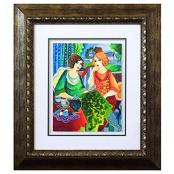 """Patricia Govezensky- Original Watercolor """"Viviana & Aitana"""""""
