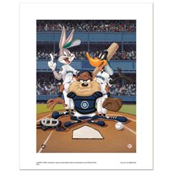 """""""At the Plate (Mariners)"""" Numbered Limited Edition Giclee from Warner Bros. with Certificate of Auth"""