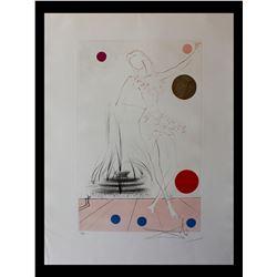 "Salvador Dali- Original Etching with color ""Buckingham Fountain"""