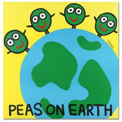 """""""Peas on Earth"""" Limited Edition Lithograph by Todd Goldman, Numbered and Hand Signed with Certificat"""