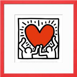 "Keith Haring ""Untitled"" Custom Framed Offset Lithograph C.1988"