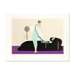 "Erte (1892-1990), ""Salon"" Limited Edition Embossed Serigraph, Numbered and Hand Signed with Certific"