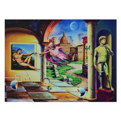 "Ferjo, ""Creation of a Man"" Limited Edition on ped Canvas, Numbered and Signed with Letter of Authent"