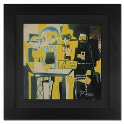 "Ringo 4u2c - (Protege of Andy Warhol's Apprentice - Steve Kaufman), ""Three Musicians"" Framed One-of-"