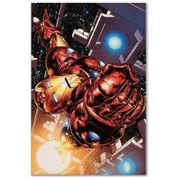 "Marvel Comics ""The Invincible Iron Man #1"" Numbered Limited Edition Giclee on Canvas by Joe Quesada"
