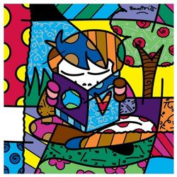 "Romero Britto ""Journey"" Hand Signed Giclee on Canvas; Authenticated"