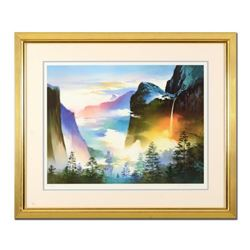 "H. Leung, ""Evening Splendor"" Framed Limited Edition, Numbered 643/850 and Hand Signed with Letter of"