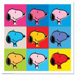 "Peanuts, ""Snoopy Goes Pop!"" Hand Numbered Limited Edition Fine Art Print with Certificate of Authent"