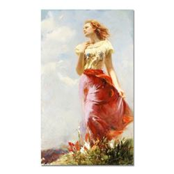 "Pino (1939-2010), ""Wind Swept"" Artist Embellished Limited Edition on Canvas (24"" x 40""), AP Numbered"