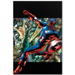 """Marvel Comics """"Captain America: Man Out of Time #5"""" Numbered Limited Edition Giclee on Canvas by Bry"""