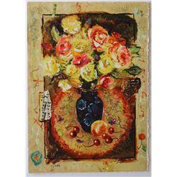 "Sergey Kovrigo- Original Serigraph on Paper ""Sunshine Roses"""