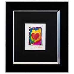 "Peter Max- Original Lithograph ""Heart Series I"""