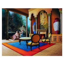 """Orlando Quevedo, """"The Kiss"""" Limited Edition on Canvas, Numbered and Hand Signed with Certificate of"""
