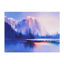 """H. Leung, """"Glacier Lake"""" Limited Edition on Canvas, Numbered and Hand Signed with Letter of Authenti"""