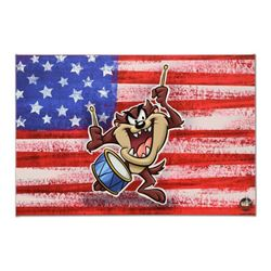 """Looney Tunes, """"Patriotic Series: Taz"""" Numbered Limited Edition on Canvas with COA. This piece comes"""