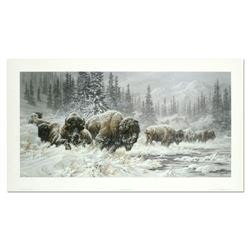 """Larry Fanning, """"Front Range Storm - Colorado Buffalo"""" Hand Signed and Numbered Limited Edition Litho"""