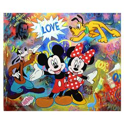 "Nastya Rovenskaya- Original Oil on Canvas ""Love & Smile"""