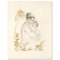 """""""Lei Jeigiong and her Baby in the Garden of Yun-Tai"""" Limited Edition Lithograph by Edna Hibel (1917-"""