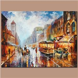 """Leonid Afremov (1955-2019) """"Paris 1925"""" Limited Edition Giclee on Canvas, Numbered and Signed. This"""