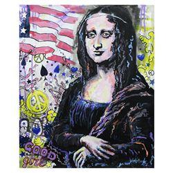 "Nastya Rovenskaya- Original Oil on Canvas ""I'm Mona Lisa"""