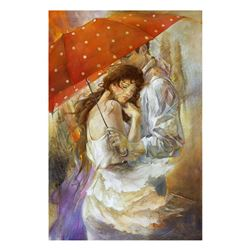 "Lena Sotskova, ""Cherish"" Hand Signed, Artist Embellished Limited Edition Giclee on Canvas with COA."