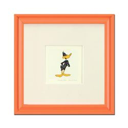 """Daffy Duck"" Framed Limited Edition Etching with Hand-Tinted Color and Numbered."
