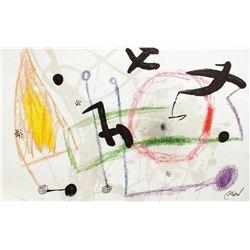 """Joan Miro- Lithograph """"Maravillas con variaciones acrosticas 05"""""""