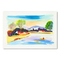 Moshe Leider, Original Watercolor Painting, Hand Signed with Letter of Authenticity.
