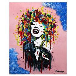 "Nastya Rovenskaya- Mixed Media ""Marilyn Monroe is Happy"""