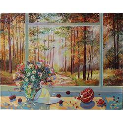 "Alexander Borewko- Original Oil on Canvas ""Into the Woods"""