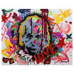 "Nastya Rovenskaya- Mixed Media ""Einstein is Right Again"""