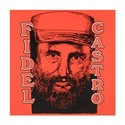 """Steve Kaufman (1960-2010), """"Fidel Castro"""" Limited Edition Hand Pulled Silkscreen on Canvas, Numbered"""