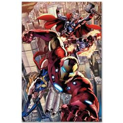 """Marvel Comics """"Avengers #12.1"""" Extremely Numbered Limited Edition Giclee on Canvas by Bryan Hitch wi"""