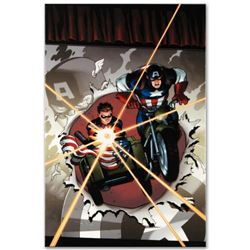 """Marvel Comics """"Captain America and Bucky #621"""" Numbered Limited Edition Giclee on Canvas by Ed McGui"""