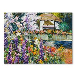 """Henri Plisson, """"The Gazebo"""" Hand Embellished Limited Edition on Canvas, Numbered 7/75 and Hand Signe"""