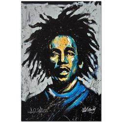 """""""Bob Marley (Redemption)"""" Limited Edition Giclee on Canvas by David Garibaldi, Numbered and Signed."""