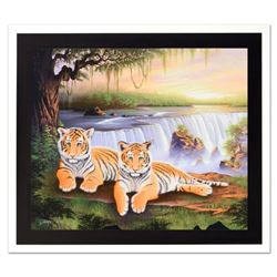 """Jon Rattenbury, """"Tiger Falls"""" Limited Edition Giclee on Canvas, Numbered and Hand Signed by the Arti"""