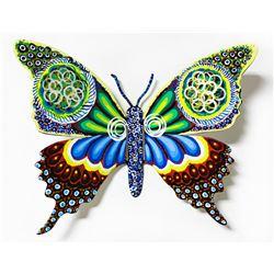 "Patricia Govezensky- Original Painting on Cutout Steel ""Butterfly CCLXXIX"""