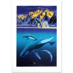 """""""The Humpback's World"""" Limited Edition Serigraph by William Schimmel, Numbered and Hand Signed by th"""