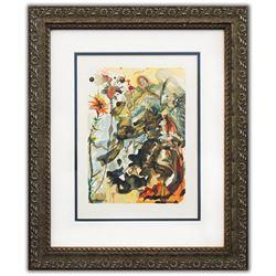"Salvador Dali- Original Color Woodcut on B.F.K. Rives Paper ""Paradise 25"""