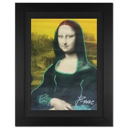 "Ringo 4u2c - (Protege of Andy Warhol's Apprentice - Steve Kaufman) - ""Mona Lisa"" Framed One-of-a-Kin"