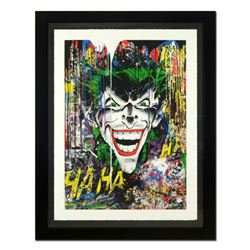 """Mr. Brainwash, """"Joker"""" Framed Limited Edition Silk Screen. Hand Signed and Numbered PP 3/5; Letter o"""