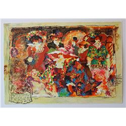 "Sergey Kovrigo- Set of 6 Serigraph on Paper ""Rendezvous, Friendship, Pleasures, Red Bouquet, Wine an"