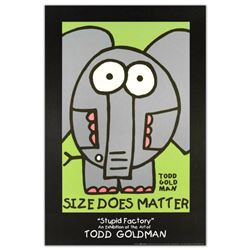 """Size Does Matter"" Collectible Lithograph (24"" x 36"") by Renowned Pop Artist Todd Goldman."