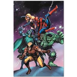 "Marvel Comics ""Avengers and the Infinity Gauntlet #3"" Numbered Limited Edition Giclee on Canvas by T"