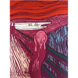 "Andy Warhol- Silk Screen ""Munch's 'The Scream' - Pink"""