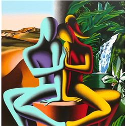 "Mark Kostabi ""TOUCHING DREAMS"" Original Serigraph"
