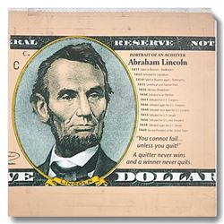 "Steve Kaufman (1960-2010), ""Abraham Lincoln, Portrait of an Achiever"" Hand Signed and Numbered Limit"