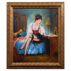 Taras Sidan- Original Giclee on Canvas  Mademoiselle