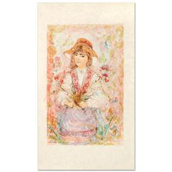 """Heidi"" Limited Edition Lithograph by Edna Hibel (1917-2014), Numbered and Hand Signed with Certific"